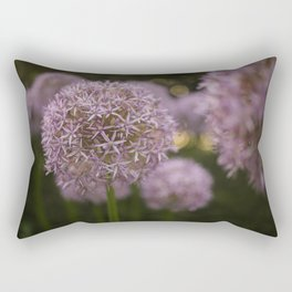Purple Allium Ornamental Onion Flowers Blooming in a Spring Garden 1 Rectangular Pillow