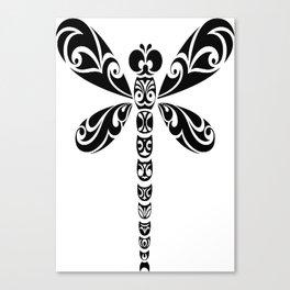 Tribal Dragonfly Tattoo Canvas Print