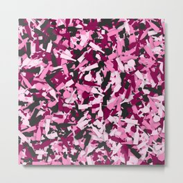 Pink alcohol camouflage Metal Print