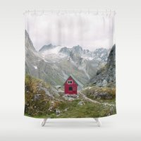 mint Shower Curtains featuring Mint Hut by Kevin Russ