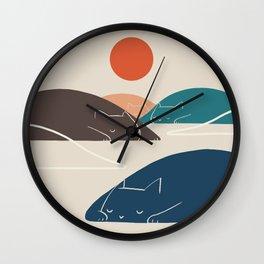 Cat Landscape 1 Wall Clock