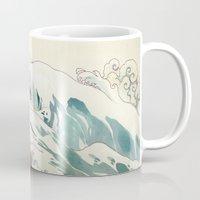 bouletcorp Mugs featuring Tsunami by Bouletcorp