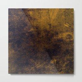 Grunge Gold Metal Print
