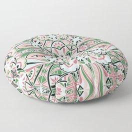 Inverted Watermelon Mandala Floor Pillow