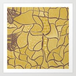 Farm textures Art Print