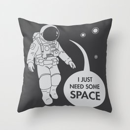 Relation(Space)ship Throw Pillow