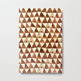 Tribal Triangles Metal Print