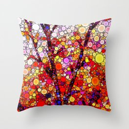 Planting Cherry Trees Throw Pillow