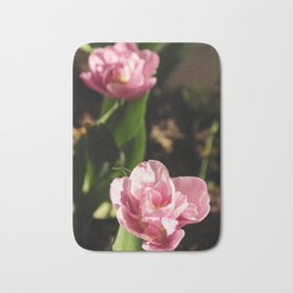 Pink tulips Bath Mat