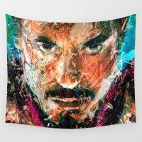arya stark Wall Tapestries featuring TONY STARK by DITO SUGITO
