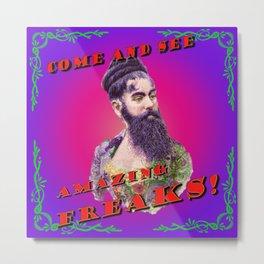 Amazing Freaks - Bearded Lady Metal Print