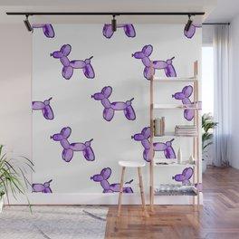 Purple Watercolor Balloon Dogs! Wall Mural