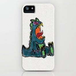 Dinosaur In Waiting iPhone Case