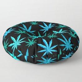 Marijuana Teal Turquoise Weed Floor Pillow