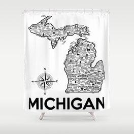 Michigan Map Shower Curtain