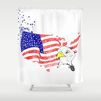 american Shower Curtains featuring American Dream by Art & Be