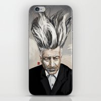 lynch iPhone & iPod Skins featuring David Lynch by Khasis Lieb