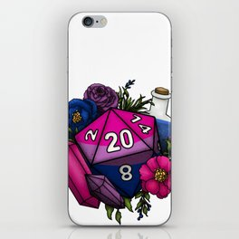 Pride Bisexual D20 Tabletop RPG Gaming Dice iPhone Skin