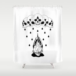 Extinguish the Flames Shower Curtain