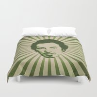 boss Duvet Covers featuring The Boss by Durro