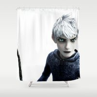 jack frost Shower Curtains featuring Jack Frost  by LaurenMichelle