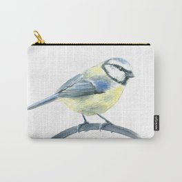 Blue tit, watercolor painting Carry-All Pouch