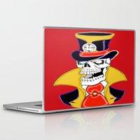 steam punk Laptop & iPad Skins featuring Steam Punk Vampire Skull by J&C Creations