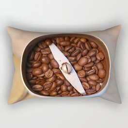 coffee beans and the coffee mill Rectangular Pillow