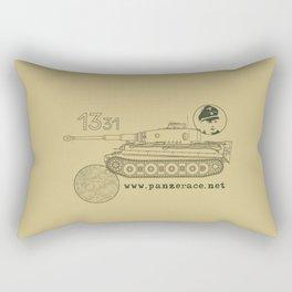 Michael Wittmann Panzer Ace 1331 Kursk Sand/Olive Green Rectangular Pillow