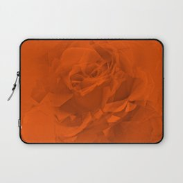 Bloomed Rose Warm Orange Laptop Sleeve