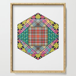 Mandala Quilting Patchwork Quilt Pattern Crafting Gift Serving Tray