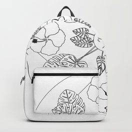 Tropical Flowers & Foliage Backpack