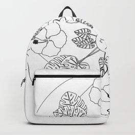 Tropical Flowers & Foliage Backpack