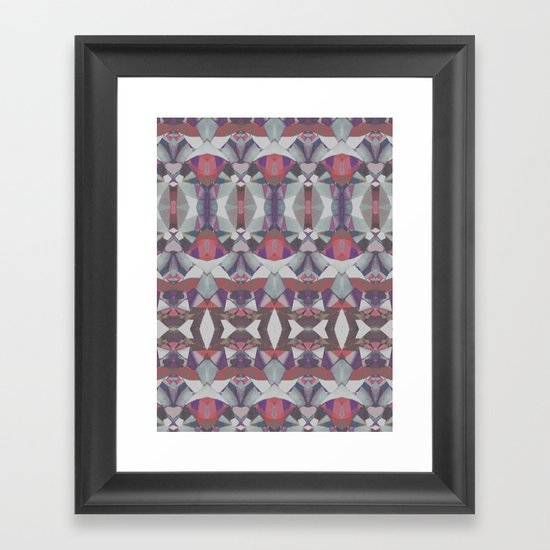 Tribal splash Framed Art Print