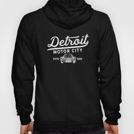 Detroit Michigan Motor City Classic Vintage Retro Est 1806 Classic Car Hoody