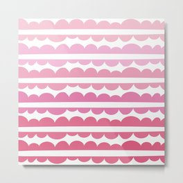 Mordidas Gradient Pink Metal Print