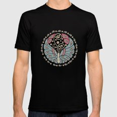 Butterfly Mandala Black MEDIUM Mens Fitted Tee