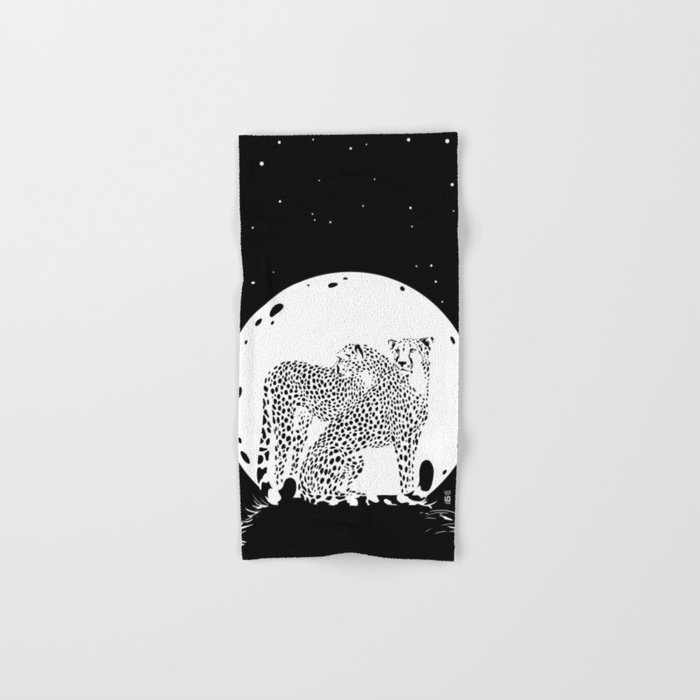 Moonlight Cheetahs Hand & Bath Towel