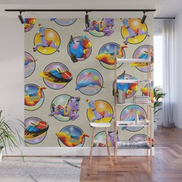 Kiddie Rides Compilation Wall Mural