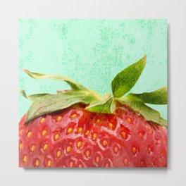 Strawberry Top Metal Print