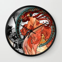 Fire Dance on the Western Front Wall Clock