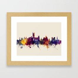 Canterbury England Skyline Framed Art Print