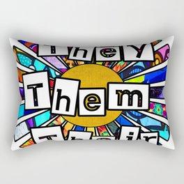 They Them Their Graffiti Sunrays Rectangular Pillow