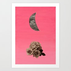 Crescent Rose Art Print