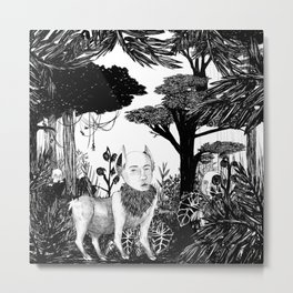some dudes hanging out in the jungle Metal Print