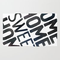 home sweet home Area & Throw Rugs featuring HOME by Eolia