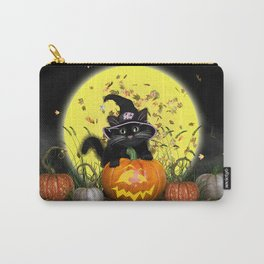 Pumpkin Kitty Carry-All Pouch