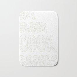 Eat Sleep Cook Repeat Bath Mat
