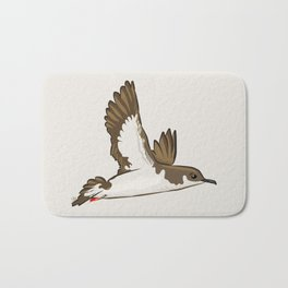 Simple Minimalist Manx Shearwater Flying Bath Mat