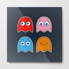Pac Man's Ghosts Metal Print
